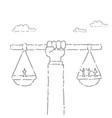 business people group on balance scale career vector image