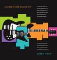 Cubist Guitars vector image