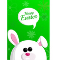 Easter background with a white bunny vector image