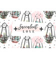 hand drawn abstract creative header with vector image