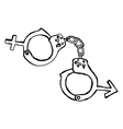 handcuff with sex sign marriage concept vector image