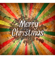 Merry Christmas flyer with Vintage background vector image
