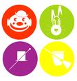 monochrome icon set with circus symbols vector image