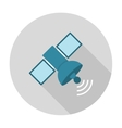 Satellite flat icon vector image