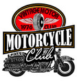 vintage motor club signs vector image