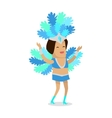 Woman in Carnaval Costume vector image