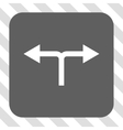 Bifurcation Arrows Left Right Rounded Square vector image