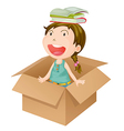 Girl in a box vector image vector image