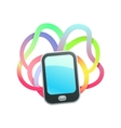 real colors of the phone vector image vector image