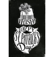 Poster St Patrick chalk vector image vector image