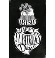 Poster St Patrick chalk vector image