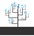 Abstract tree music vector image vector image