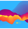 3D Wavy Background Dynamic Effect Abstract Design vector image