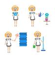 Multitasking housewife vector image