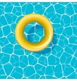Swimming circle on the water vector image