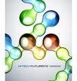 Techno bubble background vector image vector image
