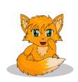 Anime fox vector image