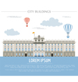 City buildings graphic template Royal Palace vector image