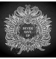 Motivation Never give up in ethnic frame vector image
