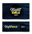 night sale dark banner vector image