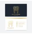 Premium Business Card Print Template Visiting vector image