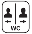 Toilet symbol Male and Female toile vector image