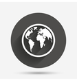 Globe sign icon World map geography symbol vector image