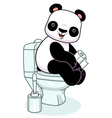 Panda in toilet vector image