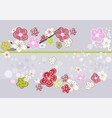 abstract cherry blossom art picture vector image