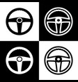car driver sign  black and white icons and vector image