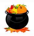 Autumn cauldron vector image