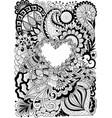 flowers heart vector image