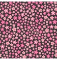 flat design seamless pattern with pink flowers vector image