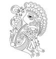 drawing of ethnic monkey in decorative ukrainian vector image vector image