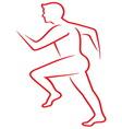 Running man7 vector image