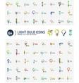 Mega set of light bulb logos vector image vector image