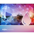 Creative water drop Art vector image