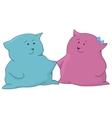 Cartoon toy cats friends vector image vector image