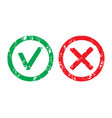 approved label and rejection rubber stamp vector image