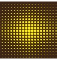 Brown and yellow halftone background vector image