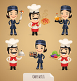chefs set1 1 vector image