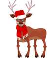 Happy new year deer vector image