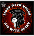 spartan warrior head knight logo trojan helmet vector image