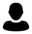 Human Man User Profile Avatar Glyph Icon vector image