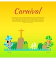 Carnival or Masquerade Brazil Banner Template vector image