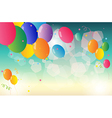 A group of colorful balloons vector image