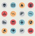 set of simple crisis icons vector image