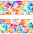 Abstract background with bright teardrop-shaped vector image vector image