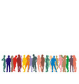 Silhouette people on a white background vector image vector image