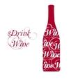 wine bottle silhouette vector image